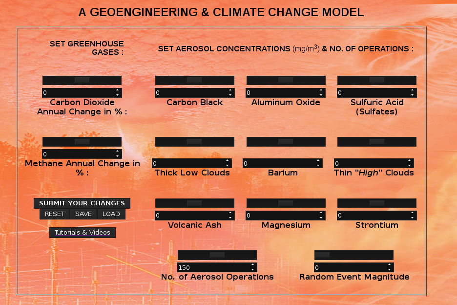 A GEOENGINEERING & CLIMATE MODEL