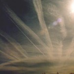 Blitz Photo of Contrails : Santa Fe, New Mexico